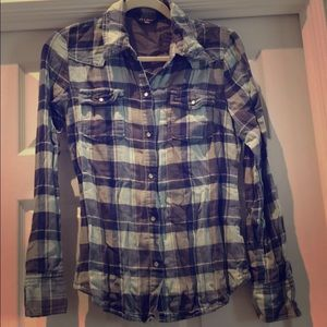 Old Navy women's soft button down blue grey small